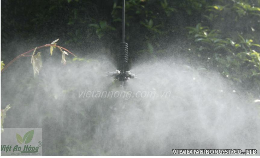 Béc phun sương 7 hướng có van áp chống nhỏ giọt